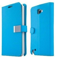 Capdase Folder Case Sider Polka Samsung Galaxy Note 2 - Blue