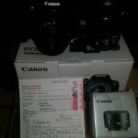 canon 700D + lensa kit + lensa fix