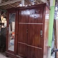 lemari(3)pintu,sliding,jati ,ready stok