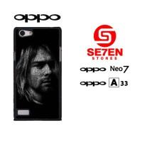 casing hp oppo neo 7 (a33) nirvana kurt cobain custom hardcase cover