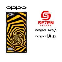 casing hp oppo neo 7 (a33) orange 3d custom hardcase cover