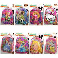 Super Quality Tas Ransel Anak embossed Image Fozen,Hello Kitty, Barbie