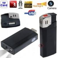 Spy Camera Korek Api Hitam(Real Lighter) HD1080P