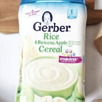 Gerber Instant Cereals - rice and banana apple cereal