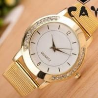 Jam Tangan Pasir Emas Fesyen Gold Fashion Watch Cowo Elegan Hot Trend