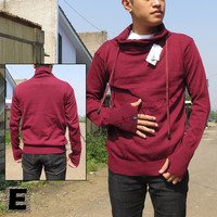 Sweater Rajut Harajuku Pria Greenlight Premium Merah Marun best