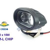 Jual Lampu Tembak Sorot LED Cree Owl 20W 2 Mata + Lensa 4D LED Spotlight Murah