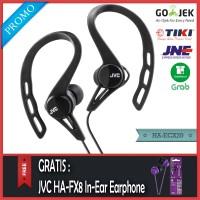 PROMO JVC HA-ECX20 Sport Headset Hitam - Gratis JVC HA-FX8 Original