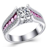Jual Cincin Berlian Lapis Emas Putih (Perhiasan, Kalung, Gelang) - BR082 Murah