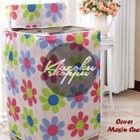 Jual Cover Mesin Cuci FLOWER (Bahan Satin Tebal, Anti Air, Anti Panas) Murah