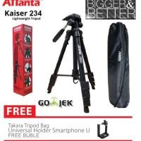 Jual Tripod camera dslr attanta kaiser 234 + bag / tripod video Murah