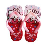 Jual ANDO Sandal Jepit HK Bentuk Hello Kitty Red Pink Murah