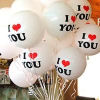 Jual Balon Dekorasi I LOVE YOU Ballon Latex Metalik DO7 Murah