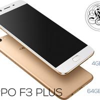 OPPO F3 PLUS 4GB/64GB GOLD (GARANSI RESMI 1 TAHUN)
