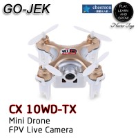 Jual promoCheerson CX-10WD-TX Mini FPV LIVE Camera Drone Upgrade dari CX-10 Murah