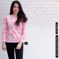 Sweater / Baju Rajut / Baju Wanita / Blouse / Flower Rose Full Print