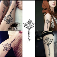 Jual HC-2016 Temporary Tattoo Illuminati - Rose - Red Anchor Murah