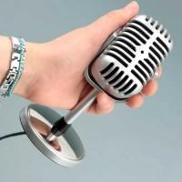 3.5mm Mic Mikrofon Karaoke Klasik Laptop Komputer +Tombol On/Off Promo