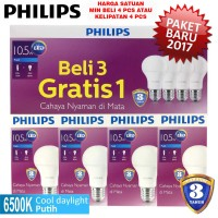 Jual Lampu Philips LED Bulb 10,5W Putih 10,5 W Watt 10,5W Bohlam packing4pc Murah