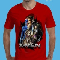 distro murah t shirt baju kaos oblong lengan pendek 3d film hero xman