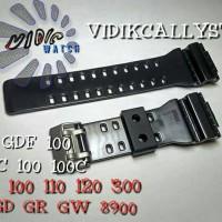 STRAP TALI G-SHOCK GA GDF 100 110 120 300 G GD GR GW 8900 HITAM GLOSY