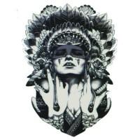 lc538 21x15cm tatto temporary wanita indian