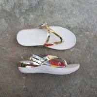 Jual Fitflop Sling Leather Gold White Murah