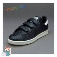 sepatu casual olahraga wanita adidas black stan smith original