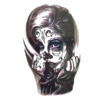 lc541 21x15cm tatto temporary wajah wanita badut