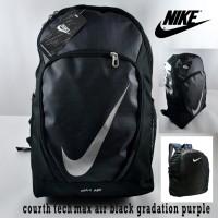 Tas Ransel Nike Max Air Court Tech Full Hitam Gradasi Ungu