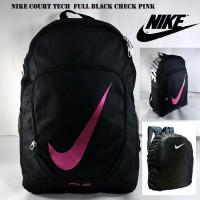 Tas Ransel Nike Max Air Court Tech Full Hitam Lis Pink