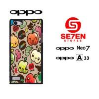 Casing HP Oppo Neo 7 (A33) apple fruits Custom Hardcase Cover