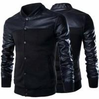 Baseball jacket Mens Black Coat Varsity