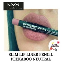 NYX SLIM LIP LINER PENCIL PEEKABOO NEUTRAL