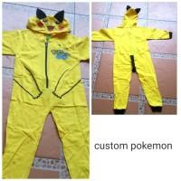 baju custom pokemon buat nari pikacu ada ekor nya