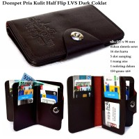 DOMPET PRIA KULIT LEVIS MALE STAND STAR PLATINUM BROWN