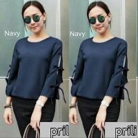 Tunik/Baju Wanita/Baju Atasan/Sabrina/prily Navy