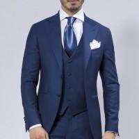 setelan jas biru wedding wisuda formal jas celana rompi