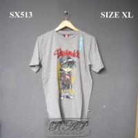 SX513 Baju Kaos DIsrto SKUMANICK Motif Orang Gambar Conan Kaos Anime