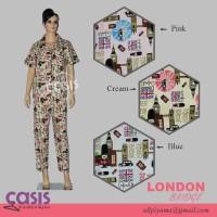 harga Baju Tidur Piyama Wanita London Bridge Sl (lgn Pendek / Cln Panjang) Tokopedia.com
