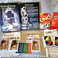 Jual PAKET SABOTEUR 2 + KARTU UNO HIGH QUALITY BOARD GAME GIGAMIC Murah
