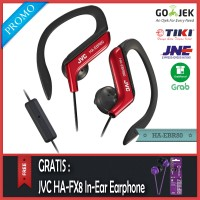 PROMO JVC HA-EBR80 Sport Earphone merah - Gratis JVC HA-FX8 Original