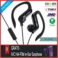 PROMO JVC HA-EBR80 Sport Earphone Hitam - Gratis JVC HA-FX8 Original