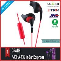PROMO JVC HA-ENR15 Sport Headset Hitam - Gratis JVC HA-FX8 Original
