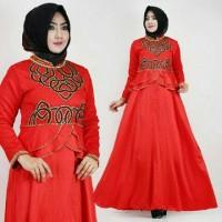 Artis gamis maxi dress velvet payet gaun pesta muslimah