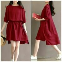 Dress Lea / Gaun Wanita / Dress Woman /Midi Dress / Korean Dress NR