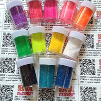 Jual TERMURAH fancy slime glitter powder import 12 warna / set murah bagus  Murah