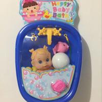 Mainan Anak Perempuan Baby Bath Mandi Bayi Boneka Bebek Bunyi