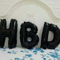 Jual Balon Foil Huruf HBD Hitam / Black 40cm Murah