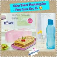 Rectangular Cake Taker Tupperware Panjang